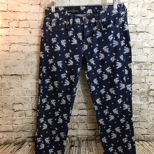 J. Crew Cropped Matchstick Floral Jeans 31x26